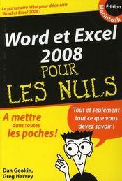 Word et Excel 2008 Mac pour les nuls - Intérieur - Format classique