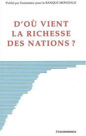 D'où vient la richesse des nations ? - Intérieur - Format classique