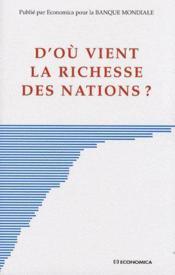 D'où vient la richesse des nations ? - Couverture - Format classique
