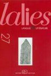 REVUE LALIES ; lalies 27/2007 - Intérieur - Format classique
