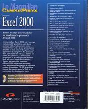 Le Macmillan Excel 2000 - 4ème de couverture - Format classique