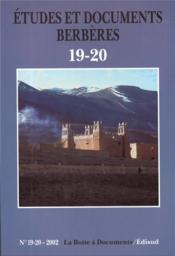 ETUDES ET DOCUMENTS BERBERES N.19 (édition 2002) - Couverture - Format classique
