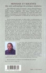 Monnaie et societes - une socio-anthropologie des pratiques monetaires - 4ème de couverture - Format classique