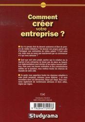 Comment créer votre entreprise ? (édition 2007-2008) - 4ème de couverture - Format classique