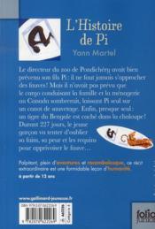 L'histoire de Pi - 4ème de couverture - Format classique