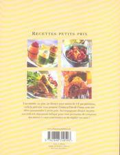 Recettes petits prix ; 60 idées pour cuisiner malin - 4ème de couverture - Format classique