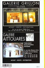 La cote des peintres 1999 - 4ème de couverture - Format classique