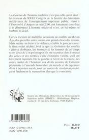 Reglement Des Conflits Au Moyen Age - 4ème de couverture - Format classique
