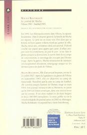 Journal de macha, le - 4ème de couverture - Format classique