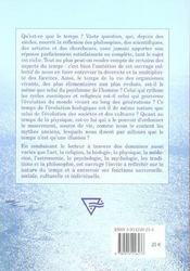 Le temps dans l'art, la religion, la biologie,... - 4ème de couverture - Format classique