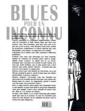 Blues pour un inconnu - 4ème de couverture - Format classique