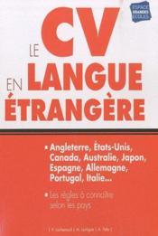 Le CV en langue étrangère (2 édition) - Couverture - Format classique