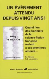 Revue Galaxies Sf ; Michel Jeury, 50 Ans De Sf - 4ème de couverture - Format classique