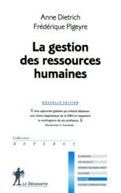 La gestion des ressources humaines - Couverture - Format classique