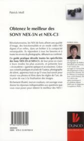 Obtenez le meilleur des Sony Nex-5N et Nex-C3 - 4ème de couverture - Format classique