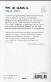 Steve Jobs - 4ème de couverture - Format classique