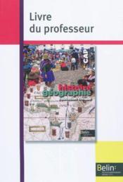 Histoire geographie education civique cap 2010 - livre du professeur - Couverture - Format classique