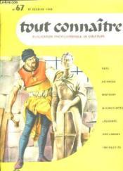 Tout Connaitre N° 67 Du 15 Fevrier 1958. Donatello. - Couverture - Format classique