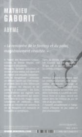Abyme - 4ème de couverture - Format classique