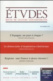 Revue études N.4222 ; décembre 2015 - Couverture - Format classique
