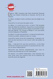 L'aventure des Ailes Anciennes Toulouse - 4ème de couverture - Format classique