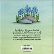 Mystère du printemps - 4ème de couverture - Format classique