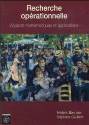 Recherche operationnelle - aspects mathematiques et applications - Couverture - Format classique
