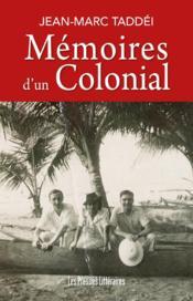 Mémoires d'un colonial - Couverture - Format classique