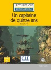 Un capitaine de 15 ans - niveau a1 + cd - 2eme edition - Couverture - Format classique