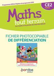 MATHS TOUT TERRAIN ; CE2 ; fichier de différenciation (édition 2020) - Couverture - Format classique