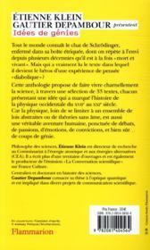 Idées de génies ; 33 textes qui ont bousculé la physique - 4ème de couverture - Format classique