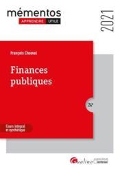 Finances publiques (édition 2021) - Couverture - Format classique