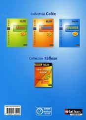 Animer ; bac pro commerce ; galée ; élève (édition 2008) - 4ème de couverture - Format classique