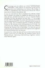 Series De Fourier Transformation De Laplace - 4ème de couverture - Format classique