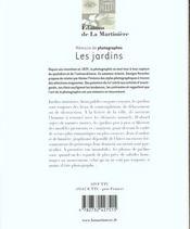 Jardins (Les) - 4ème de couverture - Format classique