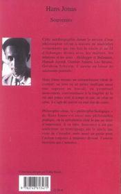 Souvenirs - 4ème de couverture - Format classique