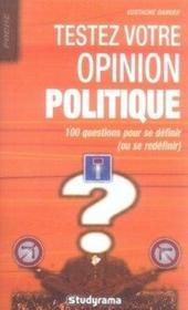 Testez votre opinion politique - Couverture - Format classique
