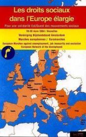 Droits sociaux dans une europe elargie - Couverture - Format classique