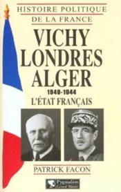 Vichy Londres Alger - Couverture - Format classique