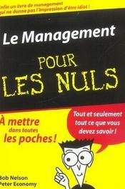 Le Management Pour Les Nuls - Intérieur - Format classique