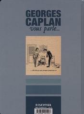 Georges Caplan vous parle... siete vidas - 4ème de couverture - Format classique