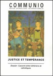 REVUE COMMUNIO N.151 ; justice et tempérance - Couverture - Format classique