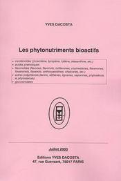 Les phytonutriments bioactifs - Intérieur - Format classique