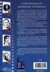 Guide pratique du référentiel de naissance - 4ème de couverture - Format classique
