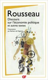 Discours sur l'économie politique et autres textes - Couverture - Format classique