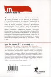 Revue Mouvements N.68 ; Gauche : Attention Chantier - 4ème de couverture - Format classique