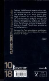 Minuit, impasse du cadran - 4ème de couverture - Format classique