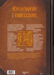 Encyclopédie de l'ésotérisme - 4ème de couverture - Format classique