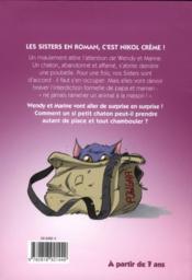 Les Sisters T.4 ; le chat à bandoulière - 4ème de couverture - Format classique