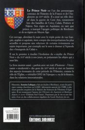 Le prince noir et sa légende (1330-1376) - 4ème de couverture - Format classique